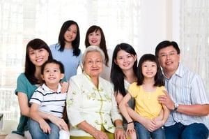 3 Generation Family Smiling