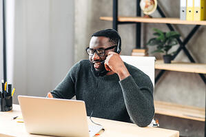 Black man working from home_small