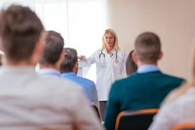 Female Healthcare Leader_Presenting to Healthcare Admin_small