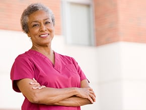Aging physician facing her challenges head on and with a smile
