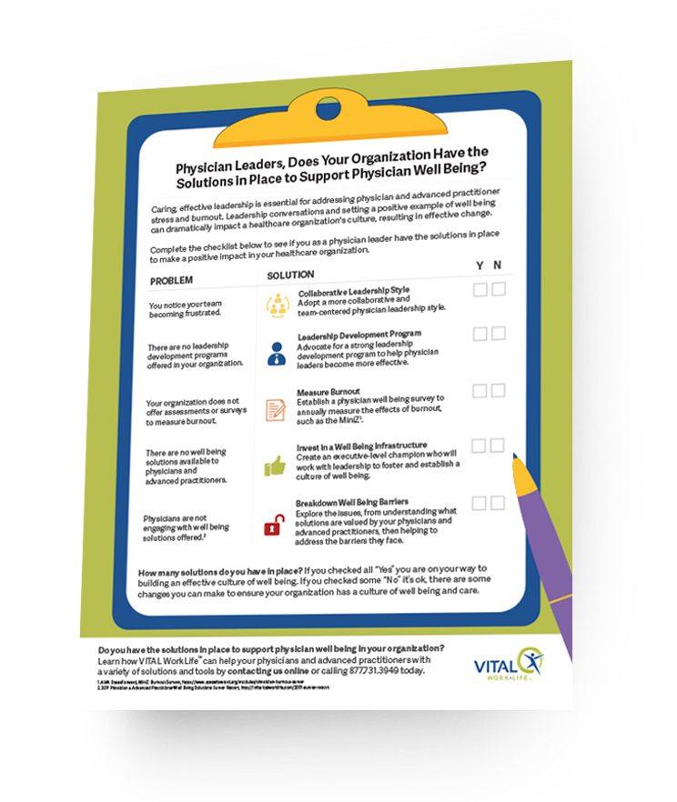 physician leadership infographic mockup