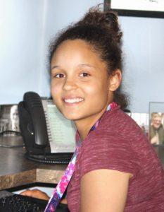 Aliyah Price, Youth at Work Student Intern