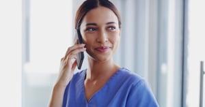 Nurse on the phone