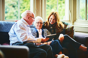Sandwich generation_grandparents and daughter