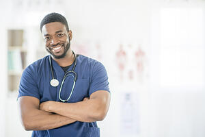 Young Black Male Doctor_Resident_Smiling