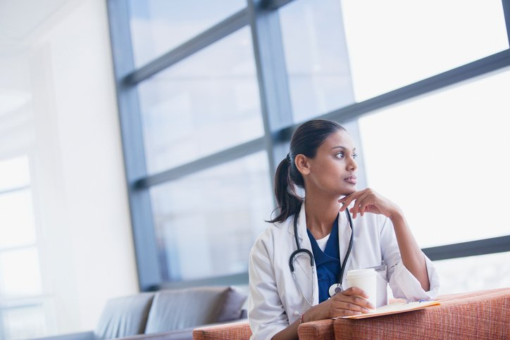 Physician-looking-out-window
